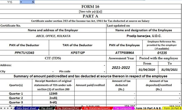 Revised Form 16