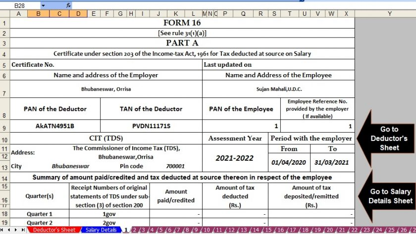 Income Tax Revised Form 16 Part A&B